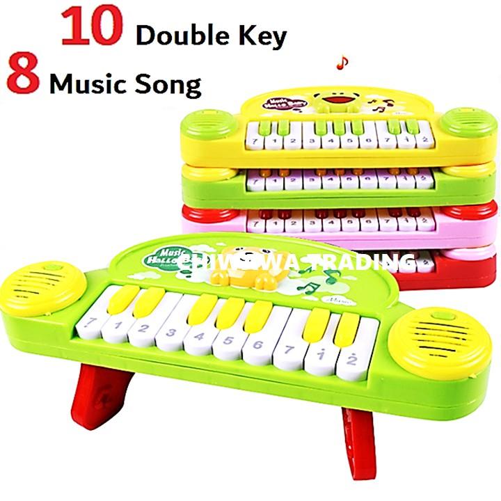 10 Keys Electronic Piano Keyboard Baby Kid Flashing LED Light Animals Song Musical Instrument Toy