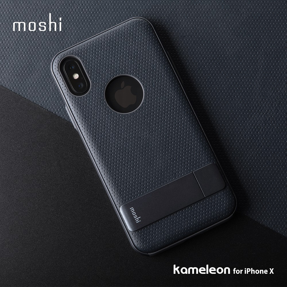 new concept fbca9 08452 Moshi Kameleon Stand Protective Case For Iphone X/XS 可立式雅致保护背壳