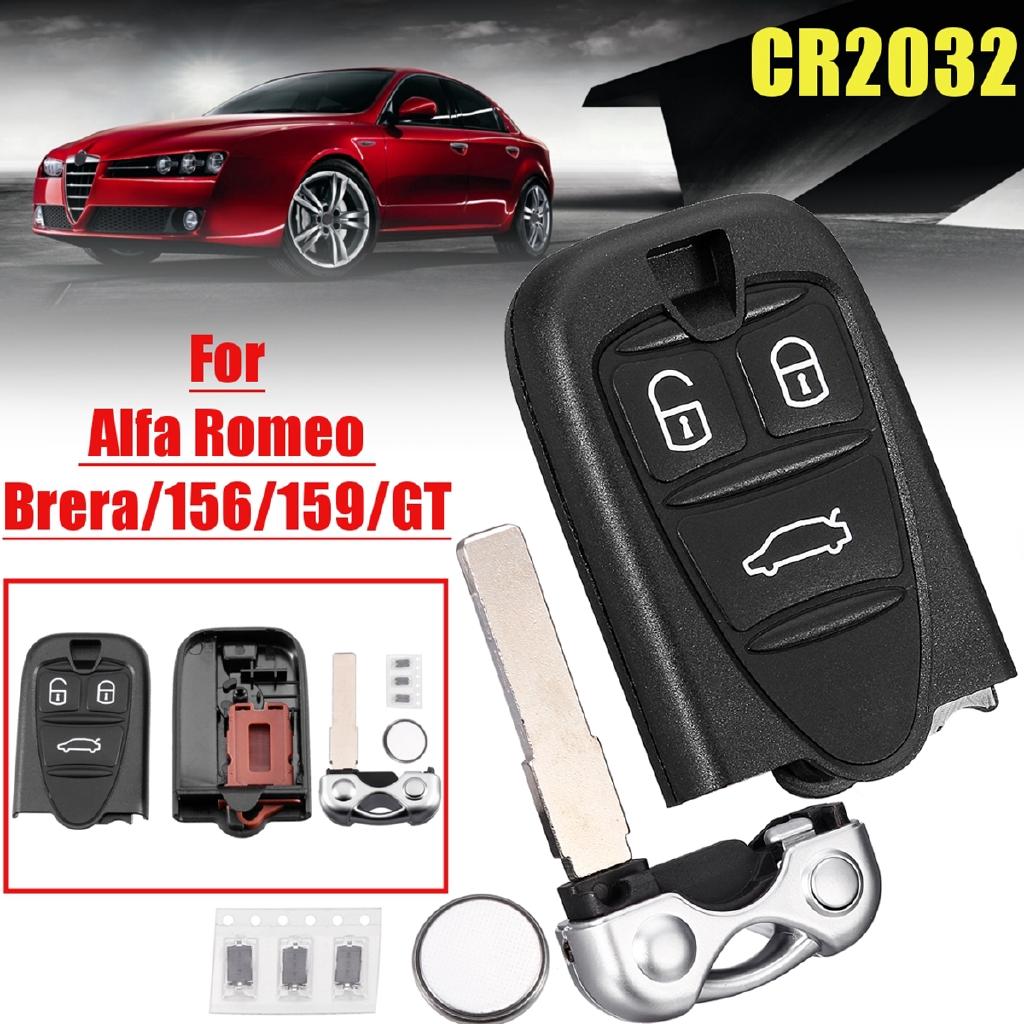 2X 3 Buttons Remote Key Fob Shell  w// Key Blade For Alfa Romeo 159 BRERA SPIDER