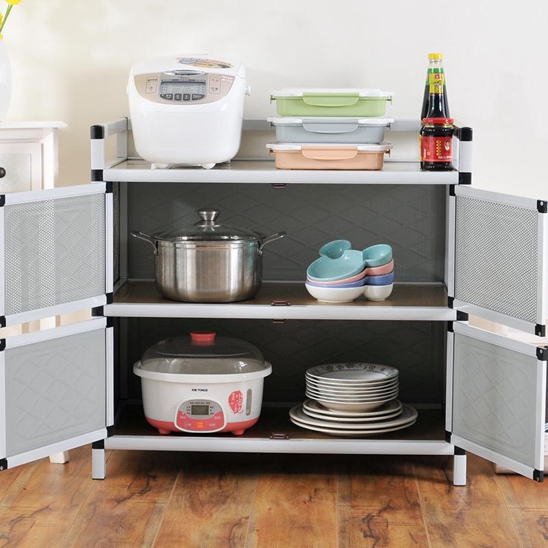 Kitchen Cabinet Stove Cabinet Stainless Steel Tea Cabinet Aluminum