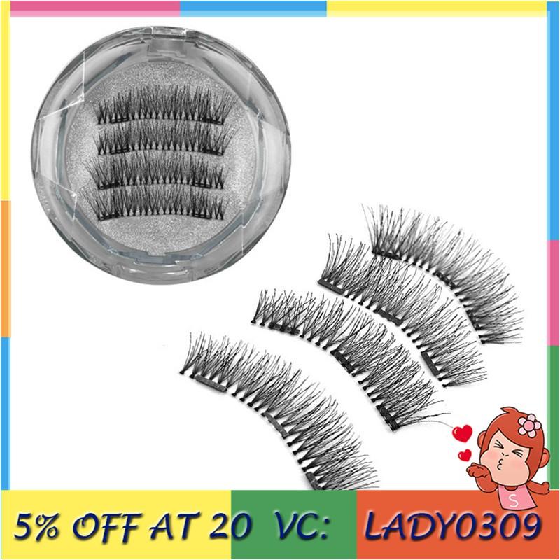 72194a77ae4 ProductImage. ProductImage. 💅READY STOCK💅4Pcs Magnetic 3D Reusable False  No-glue Magnetic False Eyelashes