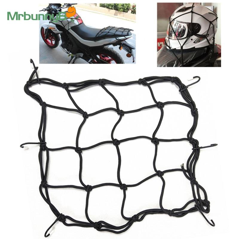 Motorcycle Tank Net 30*30CM Scooter Fuel Helmet Luggage Storage holder Black Container Cargo Accessory Durable