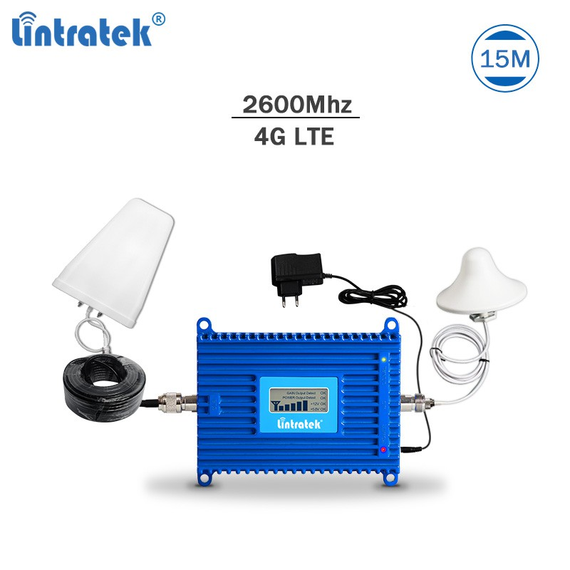 Lintratek 4G LTE 2600Mhz signal repeater booster amplifier With Antenna kit