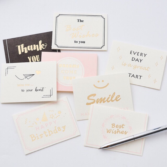 korean style greeting card with small envelop  birthday
