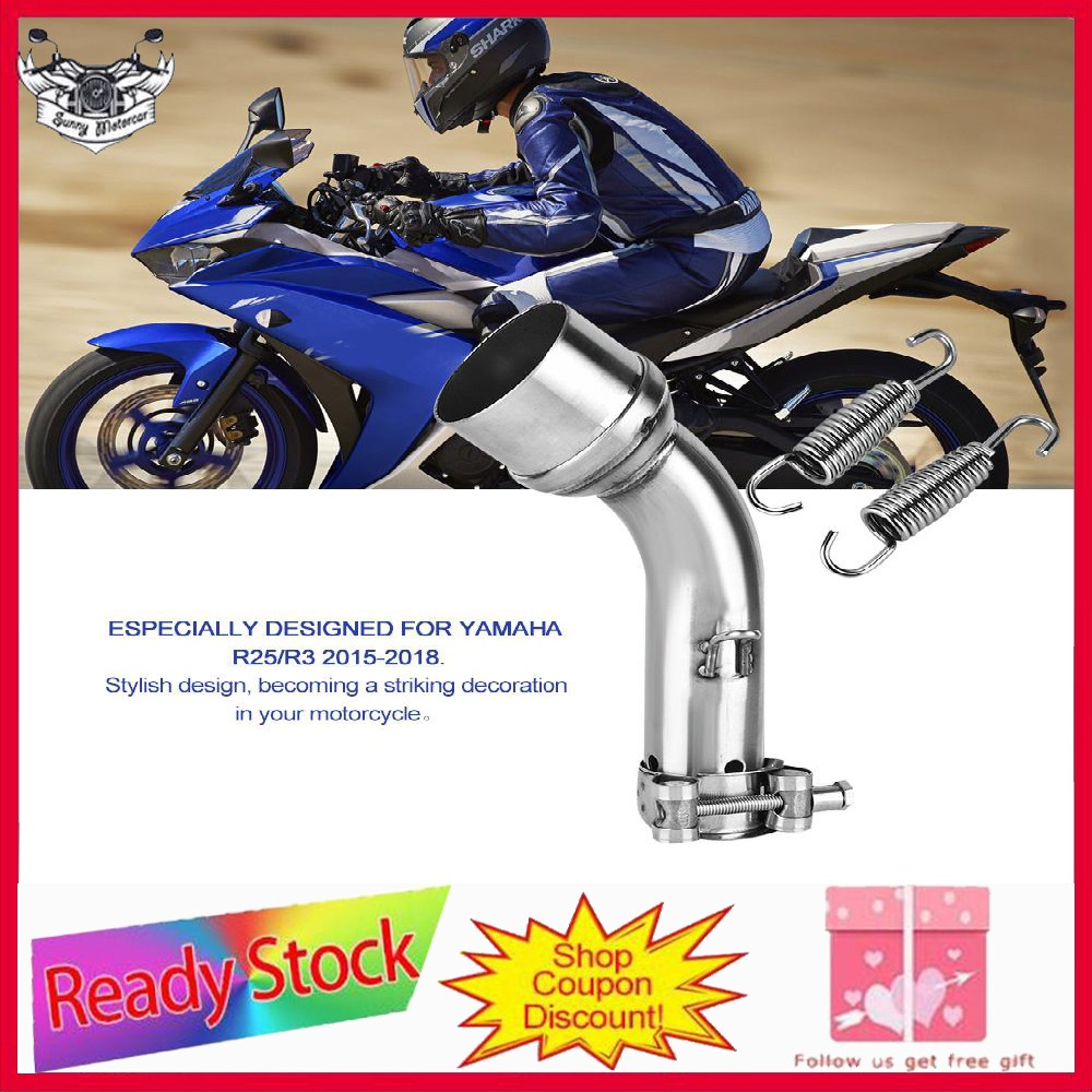 ❀❀Motorcycle Exhaust Middle Pipe Link Connect Adapter for Yamaha R25/R3  15-18❀❀