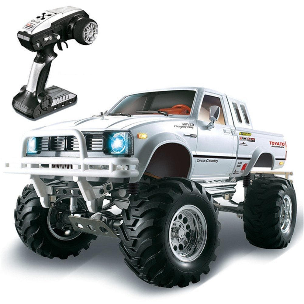 HG P407 1/10 2 4G 4WD Rally Rc Car TOYATO Metal 4X 4 Pickup Truck Rock