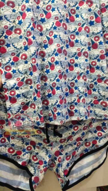 🔥🔥(PROMO) ✨🆕💯👍👕👖Adult cotton cute top +pant (set) UNICORN👗Rainbow TSSH01/icecream TSSH02/ white TSSH05