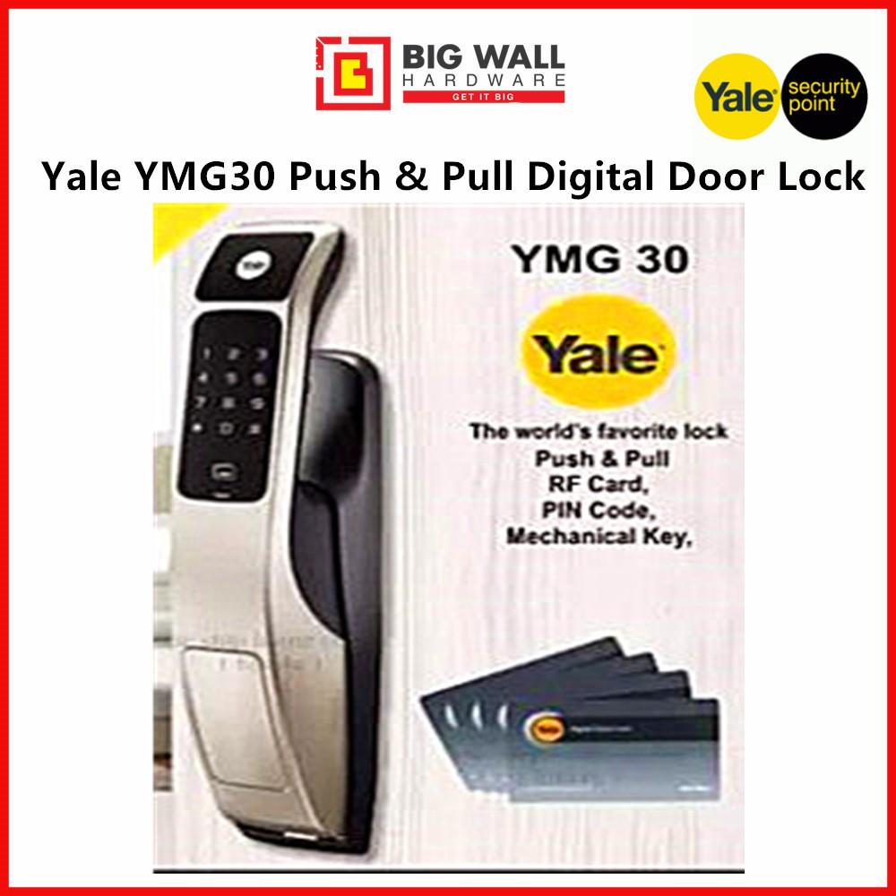 Yale YMG 30 Push & Pull Smart Digital Door (With Free Lggage Padlock)