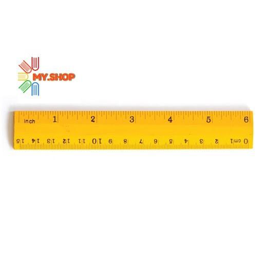 Wooden Ruler / Pembaris Kayu - 15cm