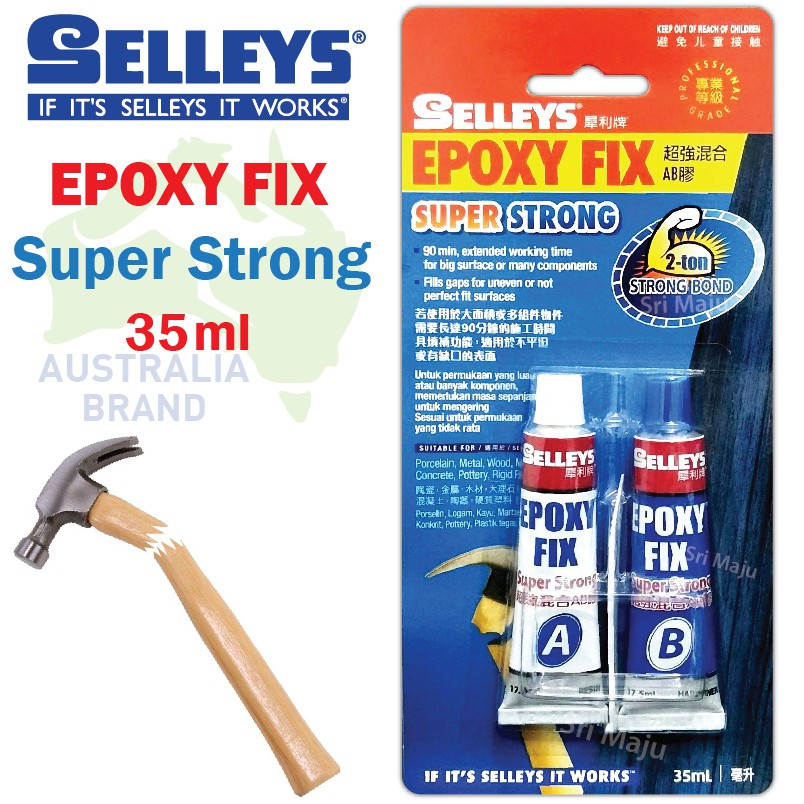 Selleys Epoxy Fix Super Strong 35ml A+B Glue Repair DIY Home Araldite 2 Ton