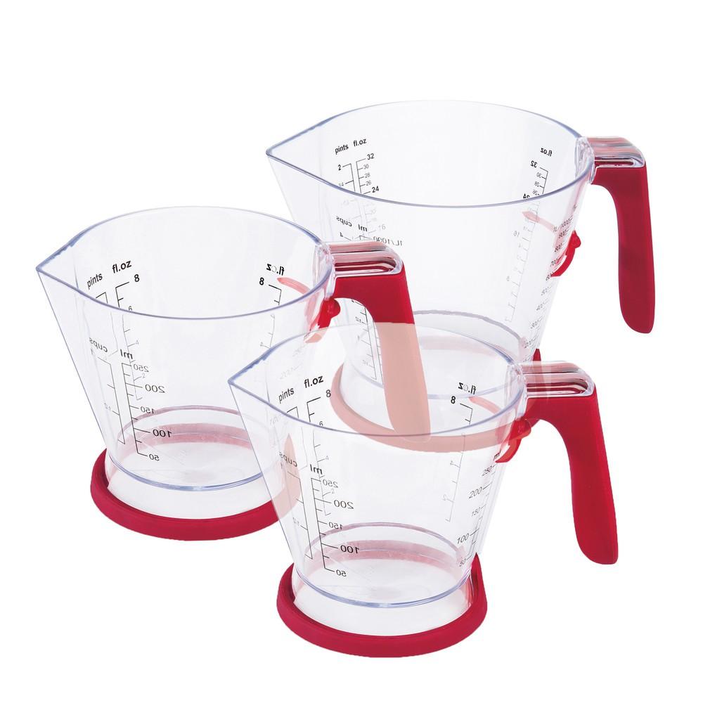 Zyliss Measuring Cup Set (3 in 1) Plastic Transparent Measuring Jug Cawan Penyukat Kitchen Baking Scale | Shopee Malaysia
