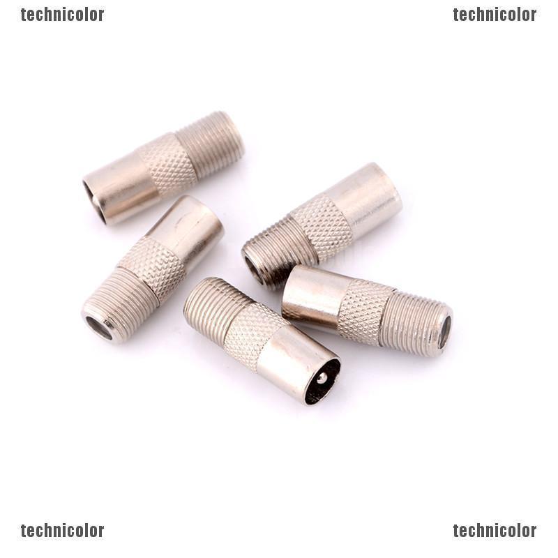 5pcs F Type Female Plug to RF Coax Aerial Male Adapter TV Convertor oc