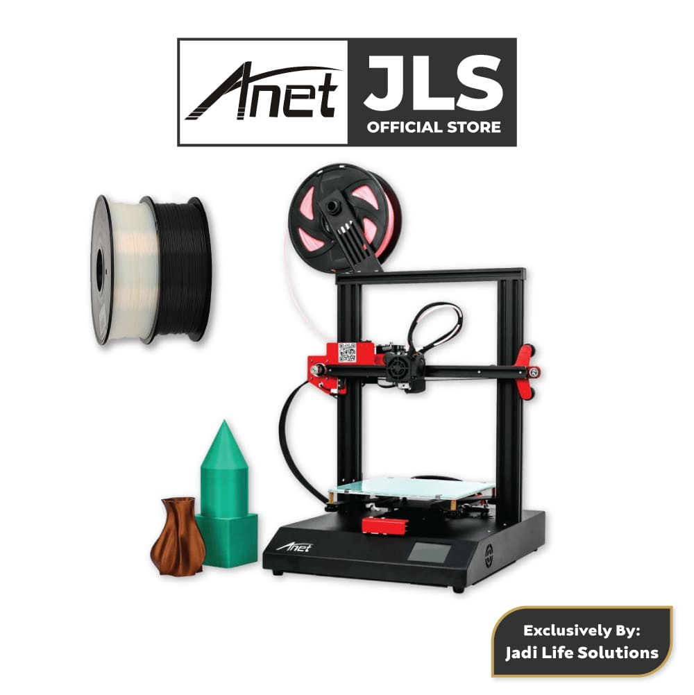 Anet ET4 All-Metal 3D Printer With Industrial Grade Chipset + 2x Black & White PLA