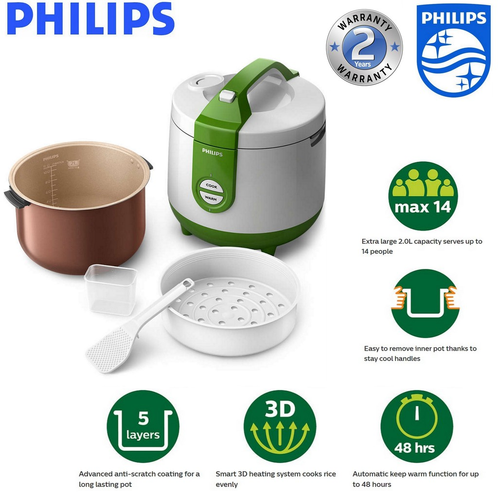 Philips Daily Collection Jar Rice Cooker - HD3119