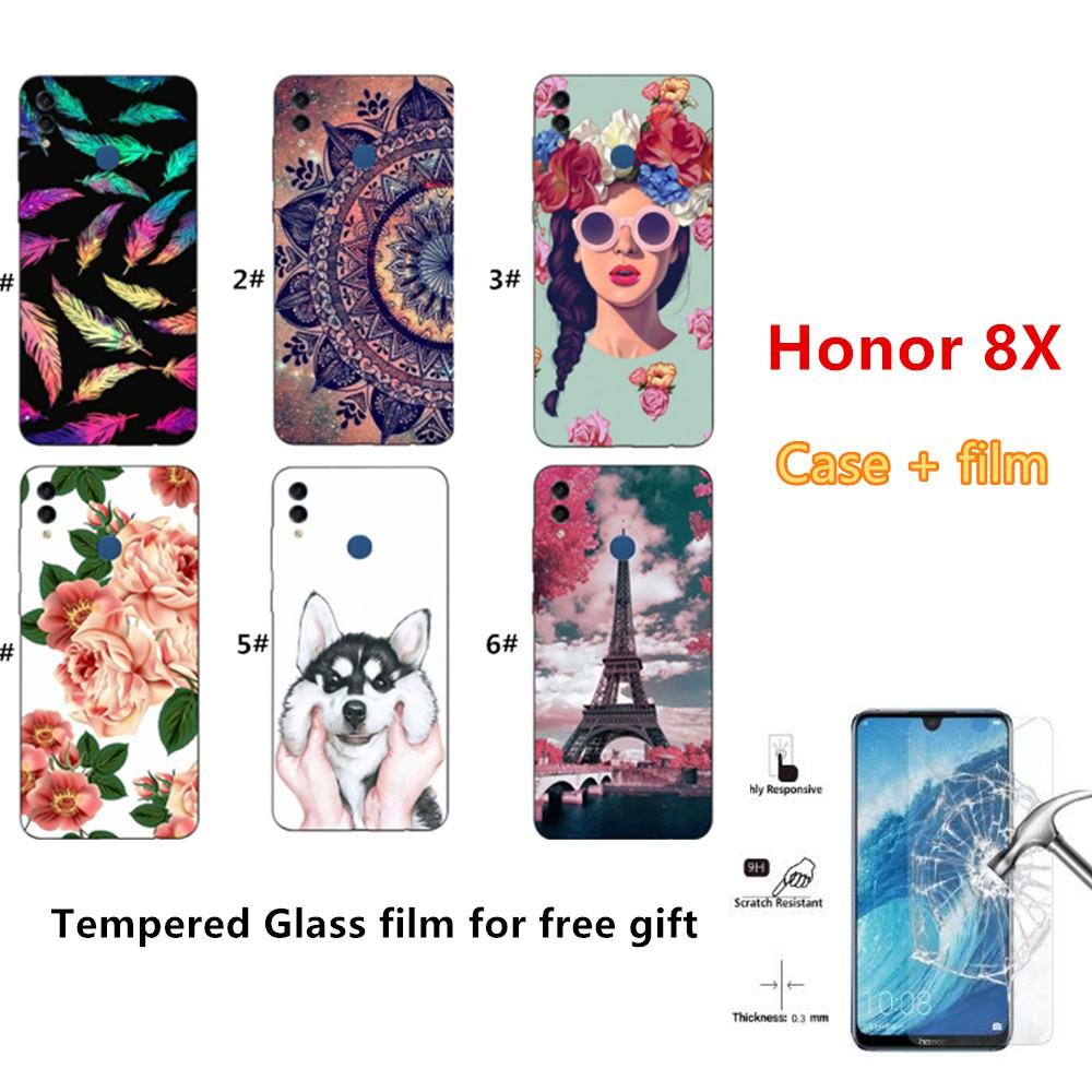 Casing Huawei Honor 8X Phone Case Soft TPU Protector Case Cover