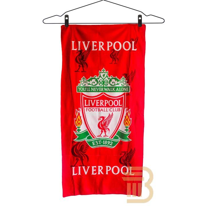 *TUALA LIVERPPOL *Towel Liverpool FC Tuala Mandi Serap Air 1 pcs Tuala Bola 140cm x 70cm