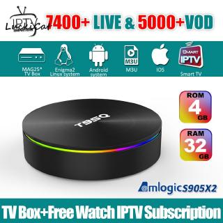 H6 Android 9 0 Smart TV BOX 4G DDR3 32G EMMC ROM Set Top Box 6K 3D H 265  Wifi Media Player TV Receiver