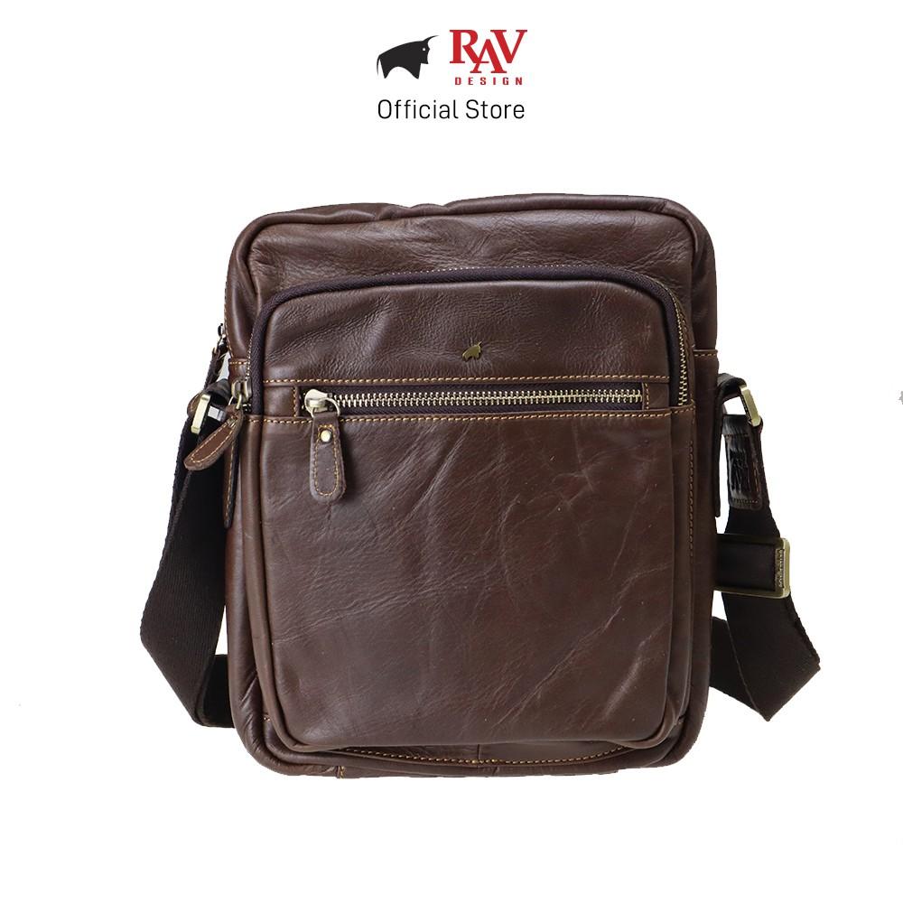 RAV DESIGN Men Genuine Cow Leather Sling Bag Brown  YRC066 Series