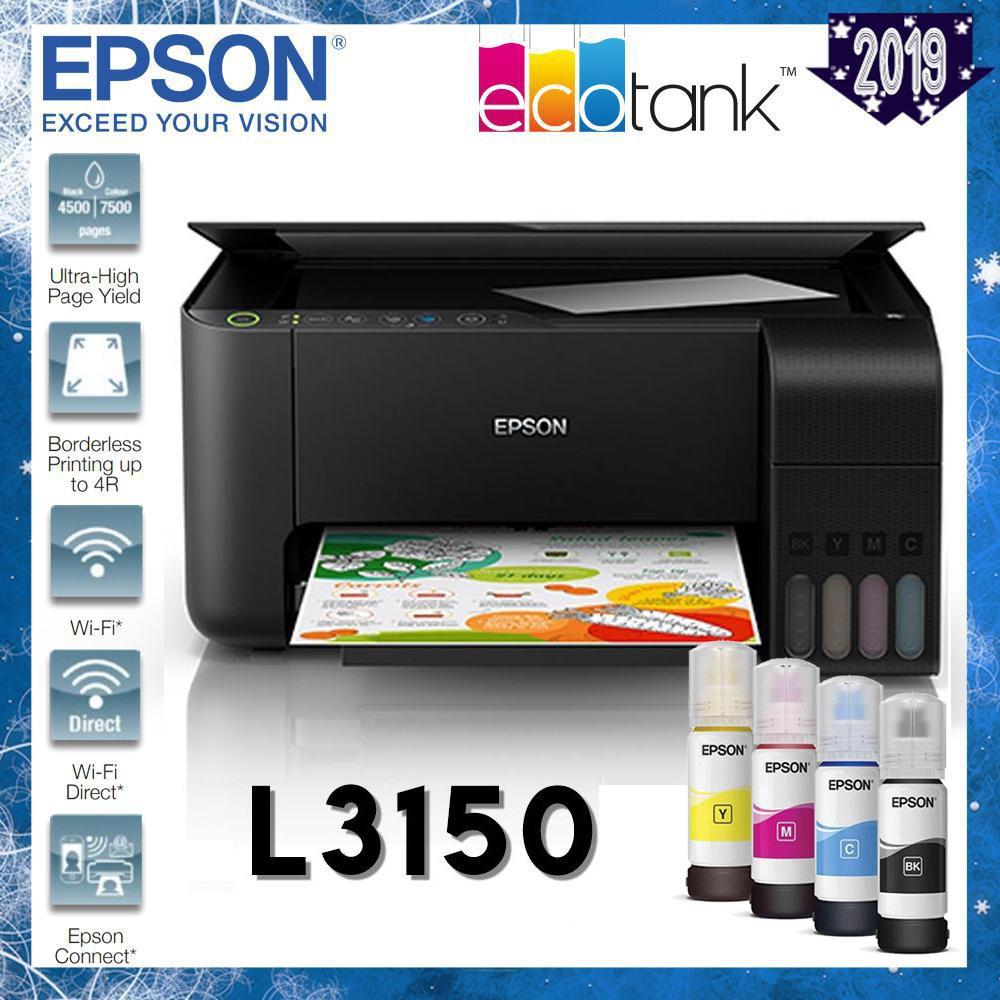 Epson EcoTank L3150 WiFi AIO InkTank printer | Shopee Malaysia