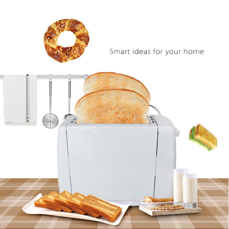 Appliances Electric Bun Toaster Stainless Steel 2 Slices (US Plug)