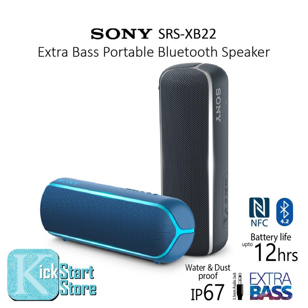 Sony Xb22 Extra Bass Portable Bluetooth Speaker Srs Xb22 Shopee Malaysia