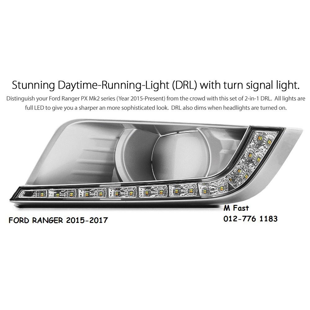 Ford Ranger 2015-2017 LED bulb style Daytime Running Light