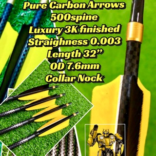 6pcs Pure Carbon Arrows with 3K Finished | Shopee Malaysia