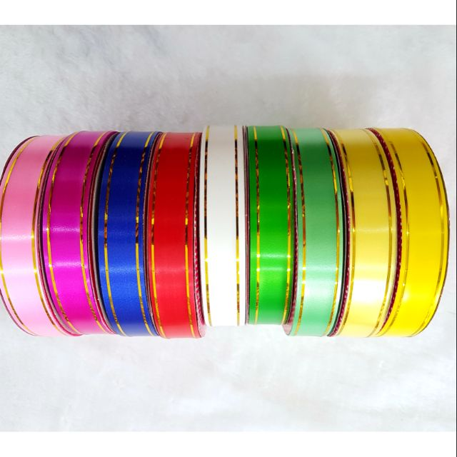 🎗➰🎋 PVC Ribbon 18mm Assorted Colour 1roll ➰🎗🎋
