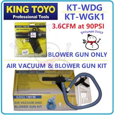KING TOYO AIR VACUUM BLOWER GUN KIT KT-WGK1 KT-WDG WONDER GUN KIT HABUK VAKUM UDARA BLOWER SET VACUUM SET KING TOYO GUN