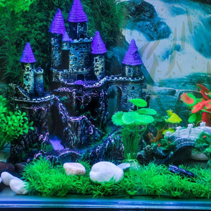 Aquarium Dark Castle Aquarium Decor Ornament Simulation Fish Tank Decorations Shopee Malaysia
