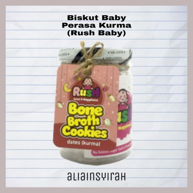 Flavour Kurma Bone Broth Cookies by Rush Baby Homemade Baby food