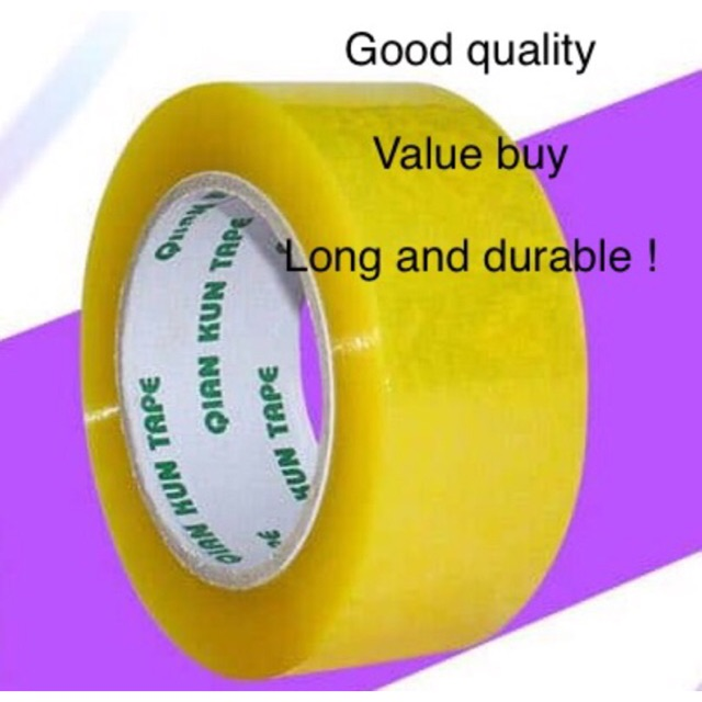 Yellow transparent cellophane tape durable quality