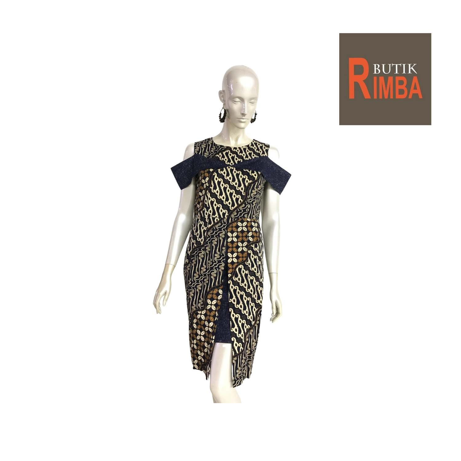 MODERN DRESS BATIK COTTON STRETCHABLE KNEE LENGTH FREE SIZE FOR FASHIONABLE WOMEN IN MIND 03
