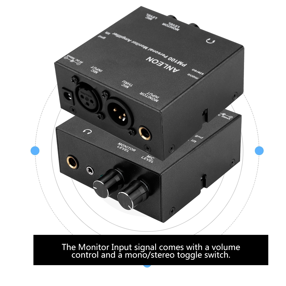 For ANLEON PM100 Personal In-Ear Monitor Headphone Amplifier System  20hz-20khz