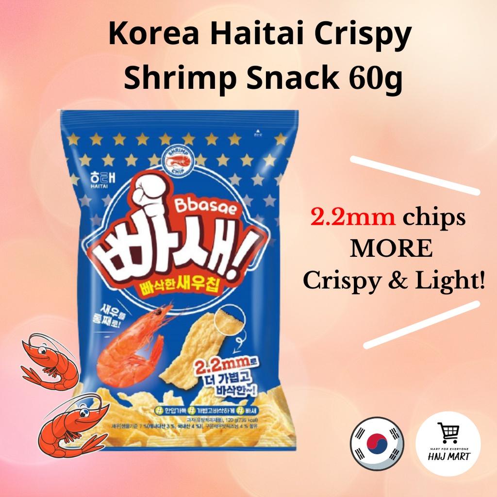 KOREA HAITAI CRISPY SHRIMP SNACK 韩国海太薄脆鲜虾片原味 60g