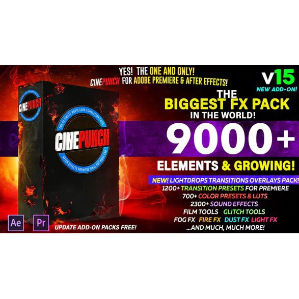 9000 Elements CINEPUNCH - The Biggest FX Pack in the World (Adobe Premiere  & After Effect) - Google Drive