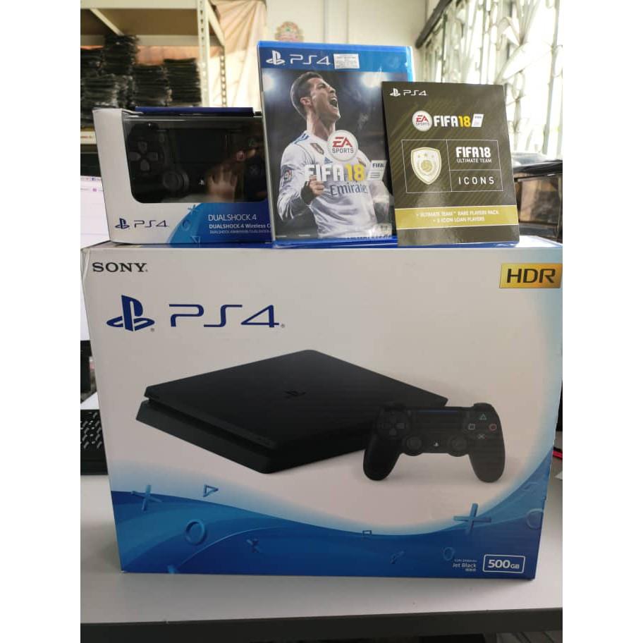 New Sony Playstation 4 Slim Ps4 Console 500gb Malaysia 2006 500 Gb Game Fifa 17 Warranty Shopee