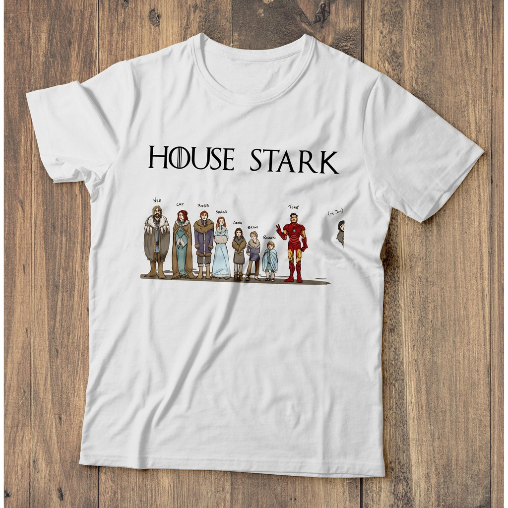 House Stark Game of Thrones and Iron Man T-Shirt Men Tee All Size S-3XL