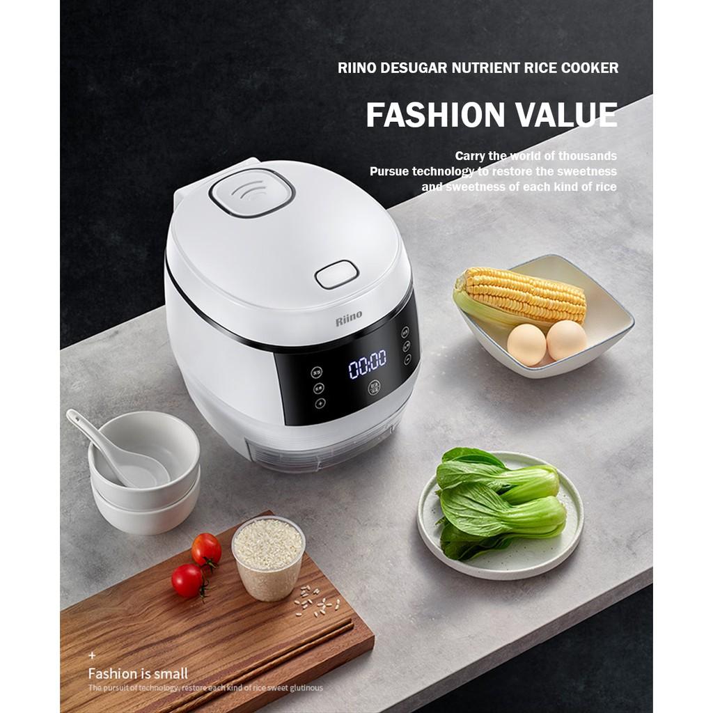Riino Desugar Nutrient Rice Cooker Smart NonStick Cookware (3L)