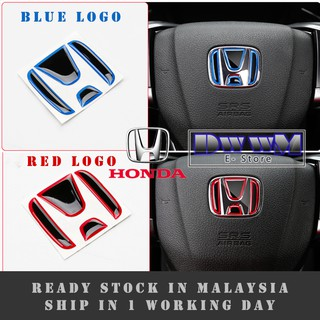 HONDA TYPE-R Steering Logo Emblem Sticker Decals for HRV BRV