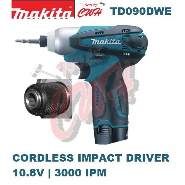 TD090DWE Makita 90NM 10.8v CORDLESS Impact Driver Drill 3000 IPM