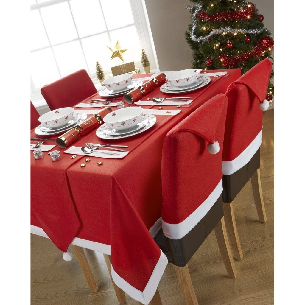 Swell Christmas Chair Covers Dinner Table Santa Hat Home Decorations Ornaments Machost Co Dining Chair Design Ideas Machostcouk