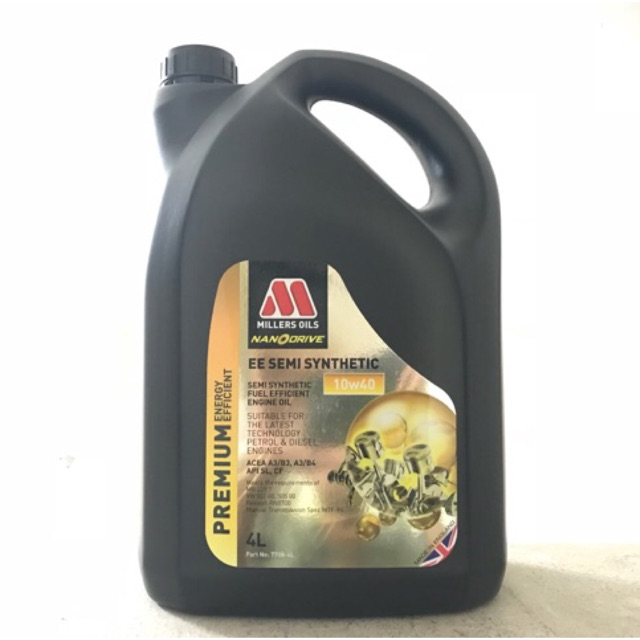 Millers Oils EE Semi Synthetic 10W-40 4 Liters Semi Synthetic Engine Oil