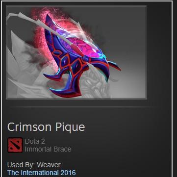 Dota2 immortal : Crimson Pique