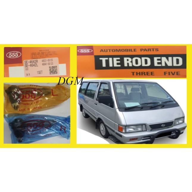 555 Nissan Vanette C22 Tie Rod End Inner SE-4642-RL (Made In Japan) 1Pair 2Pcs