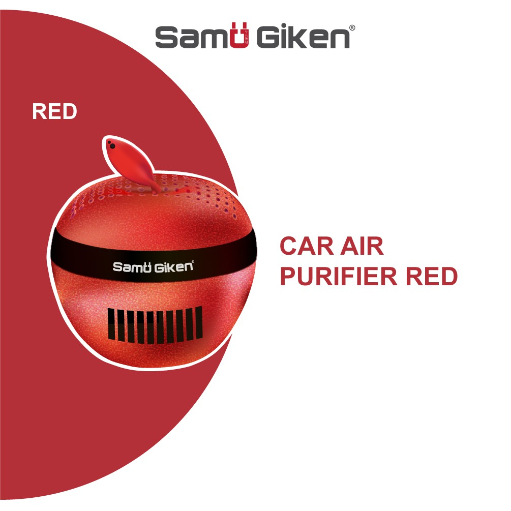 Samu Giken Personal Air Purifier Apple Design for Car/Home Use ( Red /Gold )