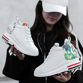 f8fc3e143 Korean woman Student casual shoes Sports shoes fashion sneakers 35-40  girl's Wedges shoes   Shopee Malaysia