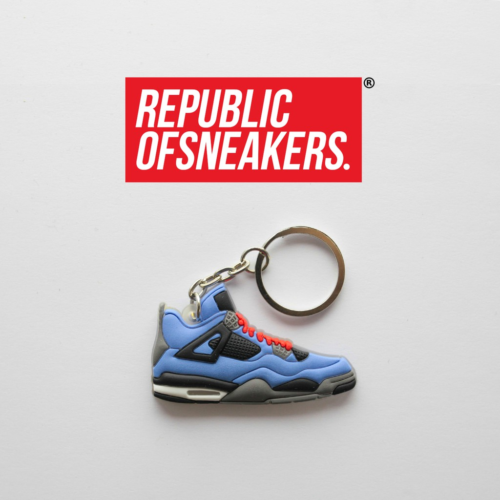 46afbee11e67b [2D KEYCHAIN] NIKE AIR JORDAN 4 BLUE,BLACK,GREY,RED