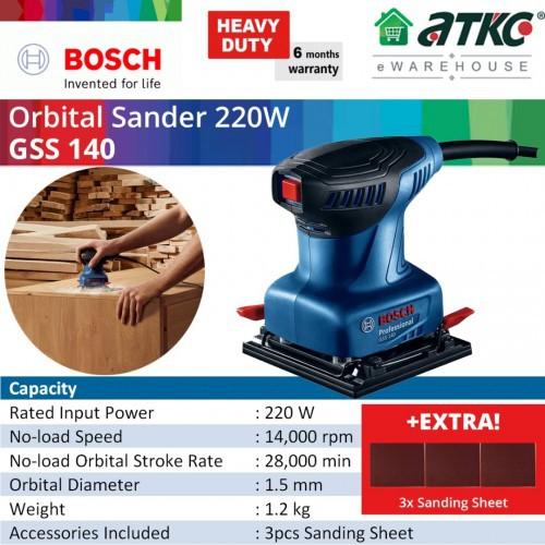 BOSCH GSS 140 Orbital Sander 220W (06012A80L0)