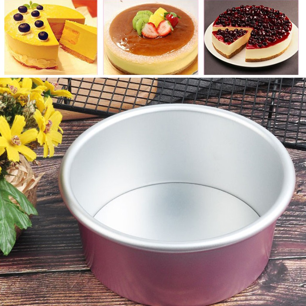 Kitchen Baking Tools Cake Pan Pudding Mold Aluminum Alloy Die Removable Bottom